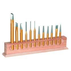 Meißel-Satz - 45CrMoV7-Stahl - Meißel, Durchtreiber, Splinttreiber etc. - 12-tlg.