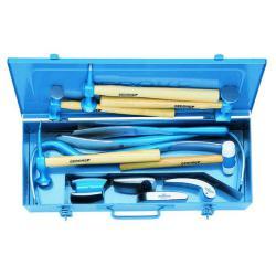 Ausbeulwerkzeugsatz - 12tlg. - inkl. verschiedene Hämmer, Ambosse, Hebeleisen etc.