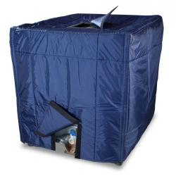 Insulating hood - with openings - for IBC with standard size 1000 l - water repellent