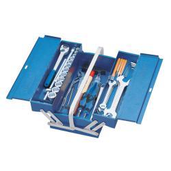 Verktygslåda - 3 fack - med sortiment av verktyg - 69 stycken