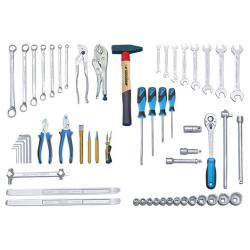 Tool assortment gas station - 68 pieces - metric - without case