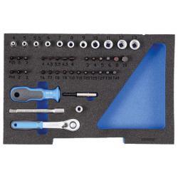 Inserto di schiuma -1/2 L-BOXX 136 - senza contenuto - per set di prese 1100 CT1-20