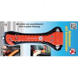 Nothammer - mit Gurtschneider - Länge 170 mm