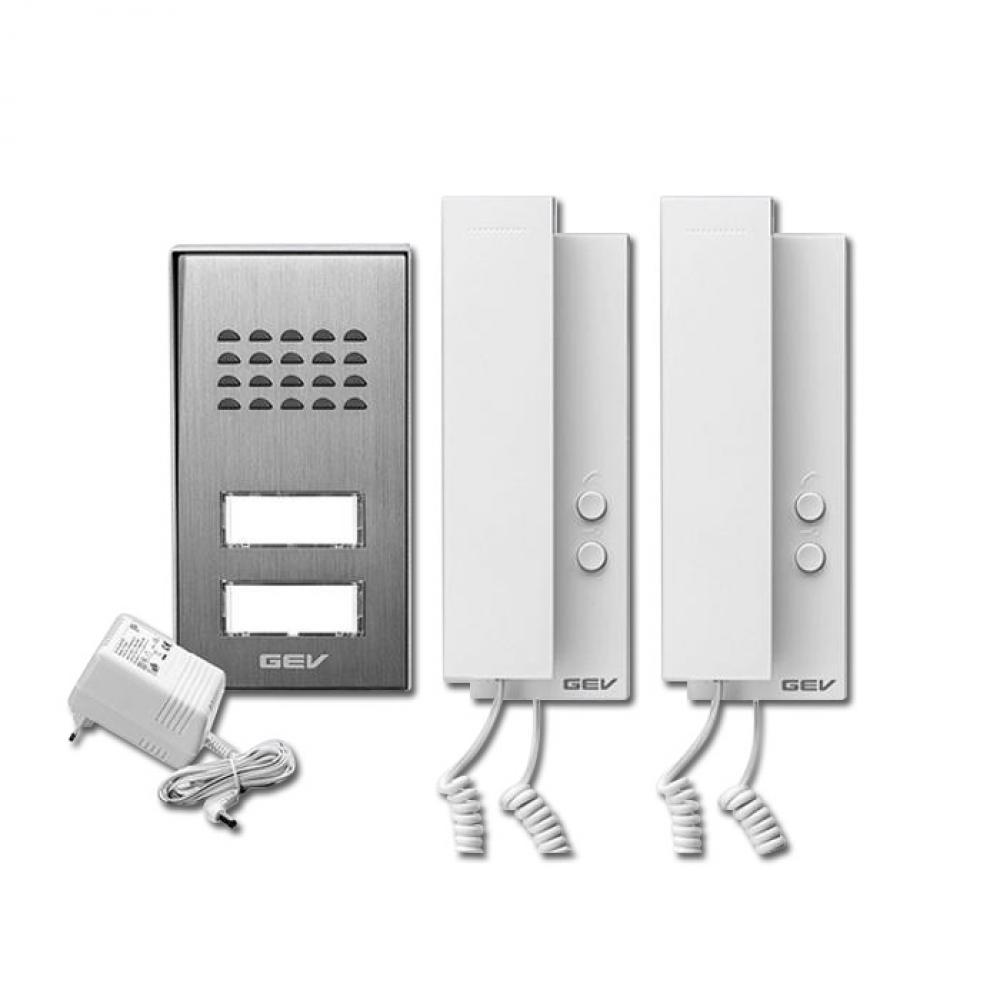 2 Familienhaus Set Audio Türsprechanlage - 2-Draht Technik ...