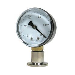 Vuotometro grezzo - inox - con molla Bourdon - campo di misura da 1000 a 1 mbar - attacco DN 16 KF