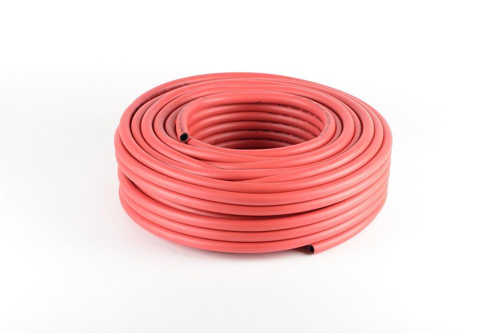 Gummischlauch - für Acetylen - rot- EN ISO 3821 - Innen-Ø 6 bis 19 mm - 40 m - Preis per Rolle