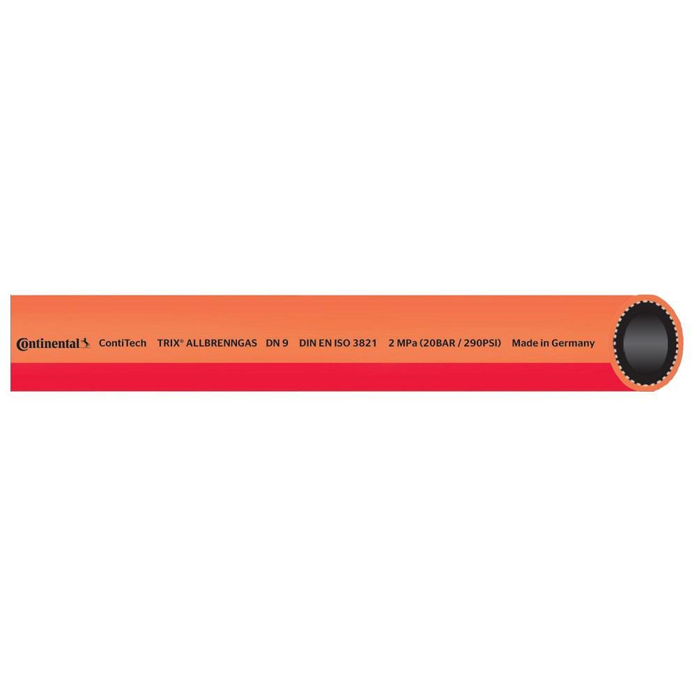 Allbrenngasschlauch - mit Einlage aus synthetischen Garnen - Innen-Ø 6 bis 13 mm - Preis per Rolle