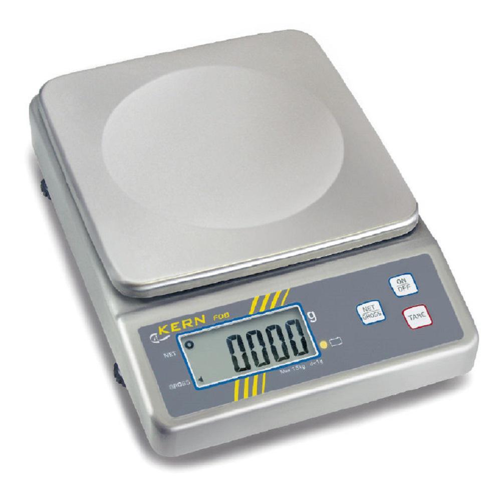 Tischwaage FOB-LM - Edelstahl - max. Wägebereich 1,5 bis 15 kg