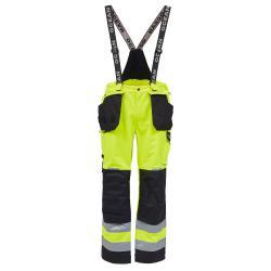 Åbo Stretch Work Trousers - Storlek XS till XXXXL - EN 343 3-3, EN 20471 kl3 - Fl. gul / svart