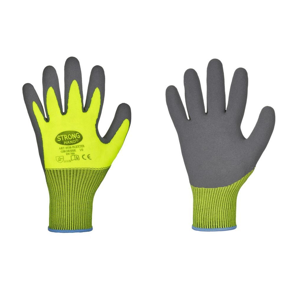 Handskar - storlek 7-11 - latexbeläggning - 12 par