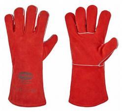 Handschuhe 'RS 53 F' Stronghand® - Rind-Spaltleder - Rot - CAT 2 - Größe 10,5 - VE 12 Paar