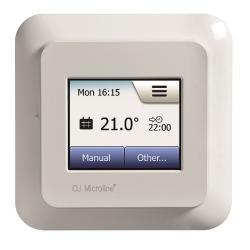 Thermostat OCD5, rund - mit 2 Fühlern - mit Wifi & Touchscreen - Regelbereich von +5 bis +40°C