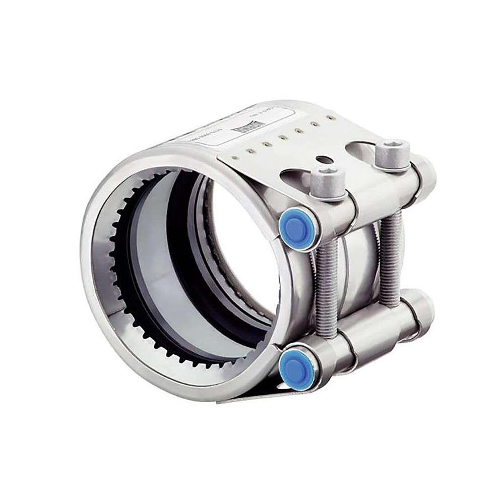 Rohrkupplung GRIP E - W5 und EPDM - Rohrweite 26,9 bis 168,3 mm - Spannbereich-Ø 26,4 bis 170,1 mm - Preis per Stück