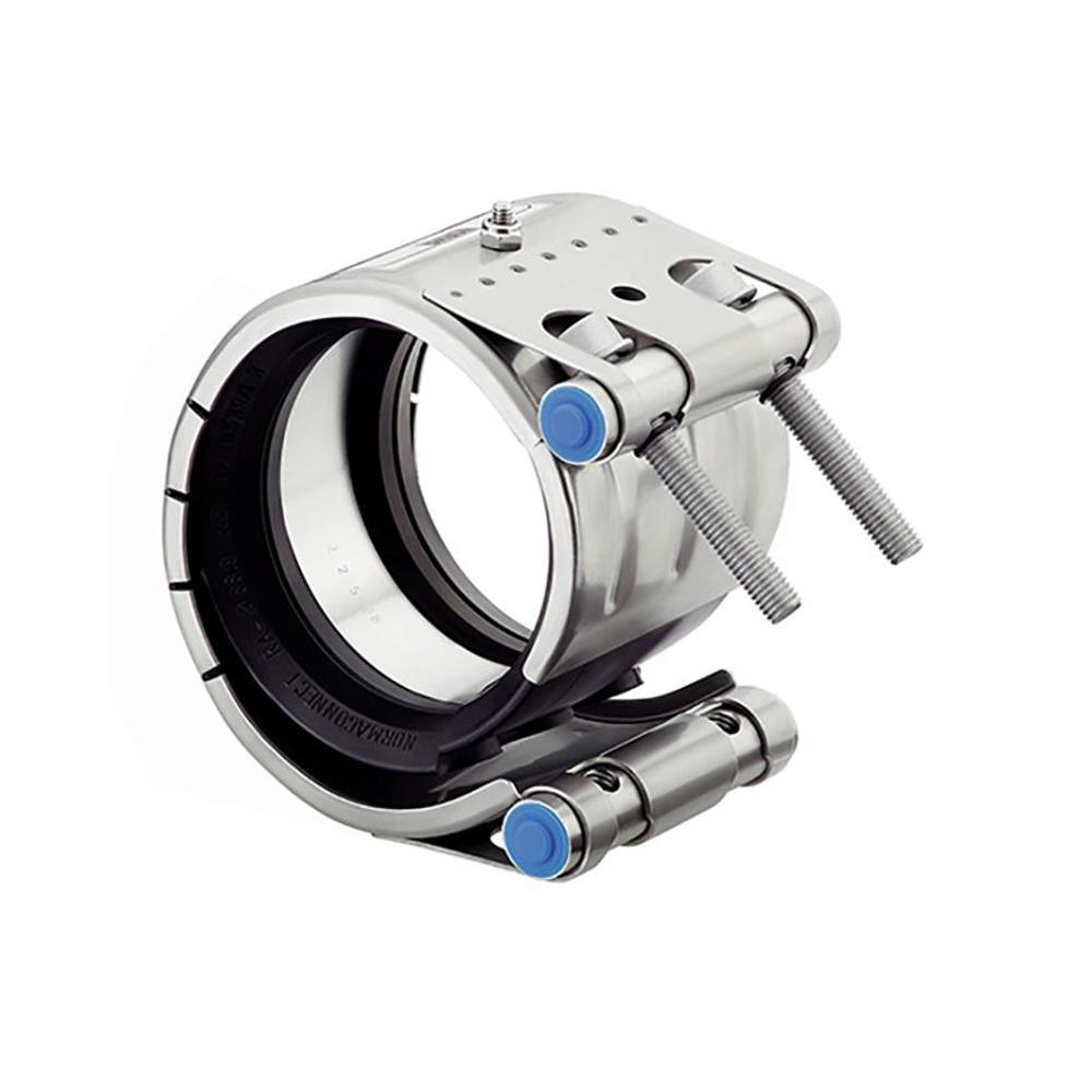 Giunto di riparazione REP E - W5 e NBR - Gamma di serraggio da Ø 34,5 a 170,1 mm - Larghezza tubo da 35 a 168 mm - Prezzo per pezzo