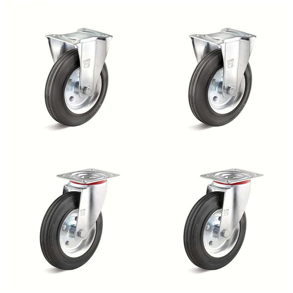 Tunga rullar - 2 styr och bock vältar - rulle diameter 80 till 200 mm - kapacitet av 150-615 kg / Set