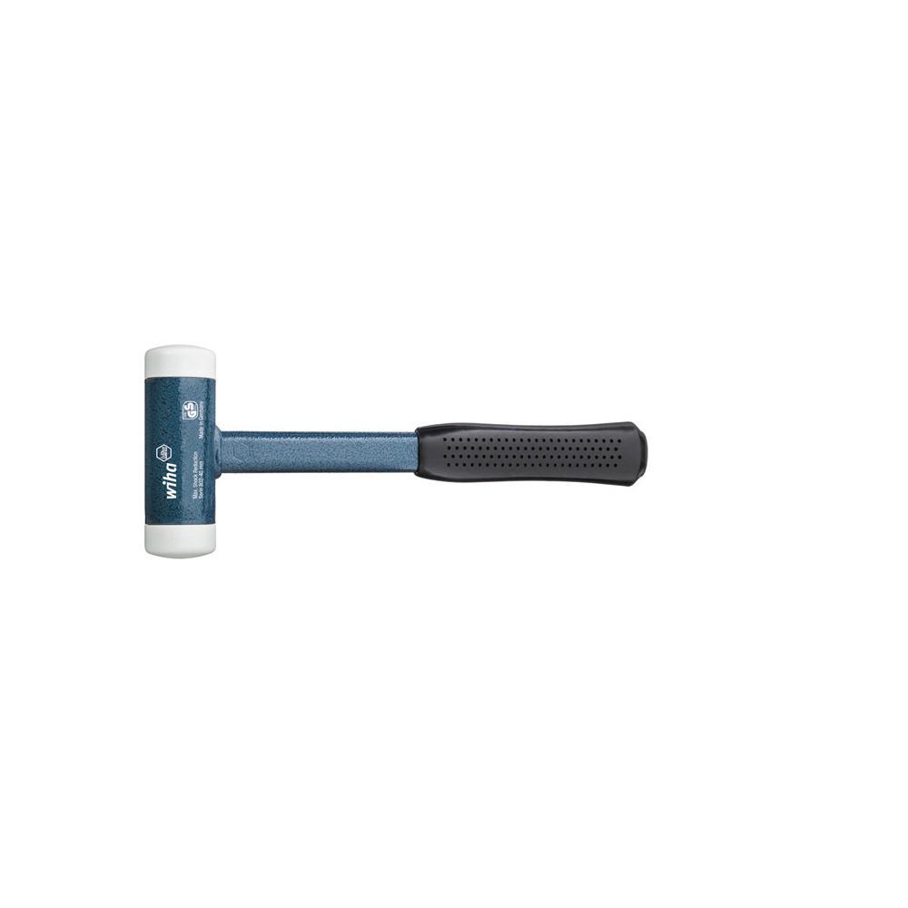 Schonhammer - rückschlagfrei - weiß - mit Stahlrohrstiel - Serie 8021