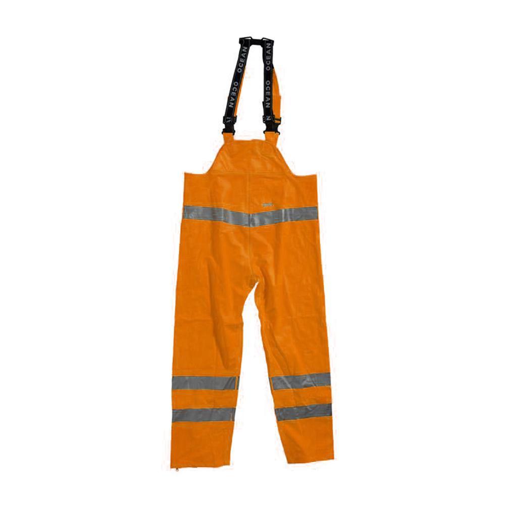 b774356e Regnbukse med smekke - Ocean - Synlighetsklasse 2 - kuldebestandig - XS til  5XL - Oransje