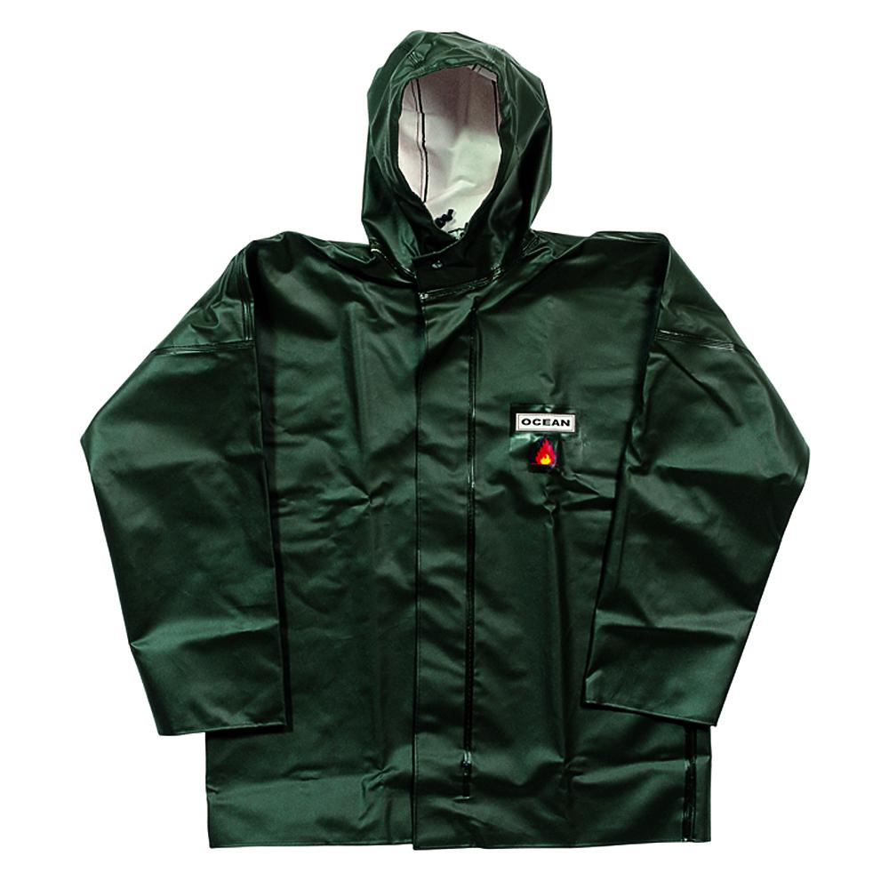 Rain jacket - OCEAN - Hooded and pockets - durable - Size S to 8XL - Olive