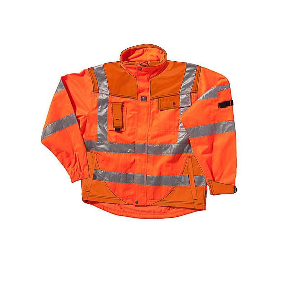 Rain jacket - Ocean - Warning protection class 3 - with hood - S to 4XL - Orange