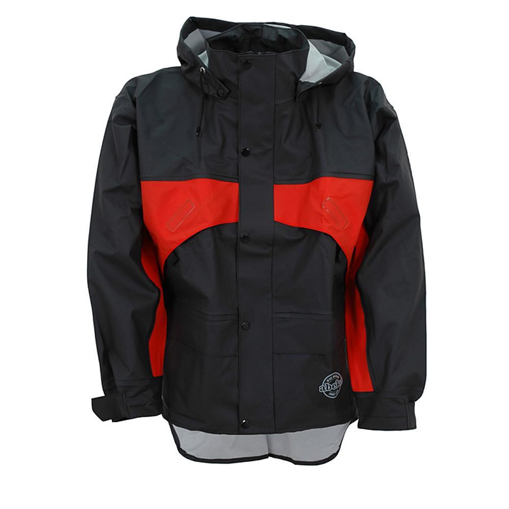 Rain jacket - OCEAN - extended backside - Gr. S to 3XL - Black / Orange