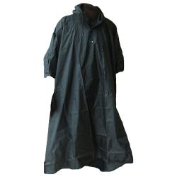 Rain poncho - OCEAN - Hooded - one size - Black