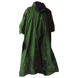 Rain poncho - OCEAN - Hooded - one size - Olive