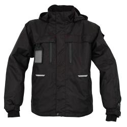 Weatherproof jacket - OCEAN - lined - waterproof - breathable - Size XS to 4XL - Black