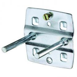Tool hook - double - straight mandrel - 100 mm