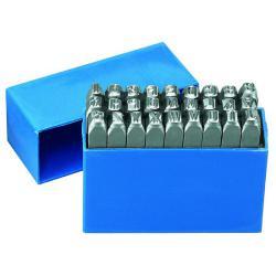 Schlagzahlen - A bis Z  - Schrifthöhe 6 mm - Länge 70 mm - 27-tlg