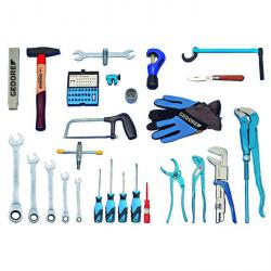 Tool assortment - 49 pieces - sanitary, heating and air conditioning