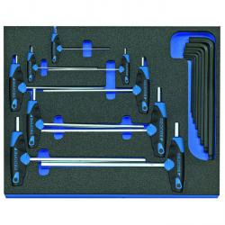 Winkelschraubendreher-Satz - in Check-Tool-Modul - 17-teilig