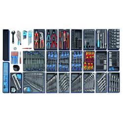Työkalulaatikko - 325-osainen työkaluvalikoima - metriset mitat
