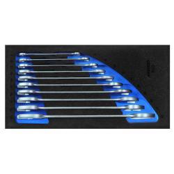 Doppelmaulschlüssel-Satz - in Check-Tool-Modul - SW 6x7 bis 24x27 mm - 10-tlg.