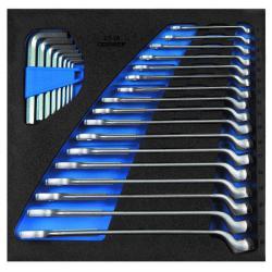 Ring-Maulschlüssel-Satz - in 1/1 Check-Tool-Modul - SW 6 bis 22 mm