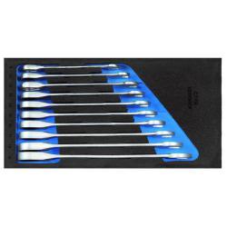 Maulschlüssel-Satz - mit Ringratsche - in 1/2 Check-Tool-Modul - SW 8-19 mm
