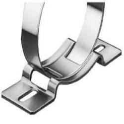 Mounting bracket NORMAFIX® K1 - for belt width 20 to 30 mm - galvanized steel - clamping range Ø 40 to 493 mm
