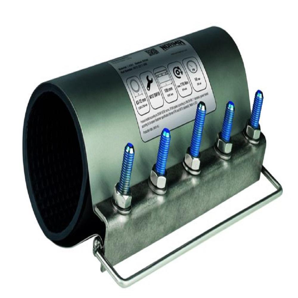 Första hjälpen reparationsklämma L - rostfritt stål - klämområde-Ø 104-114 till 396-407 mm - pris per styck