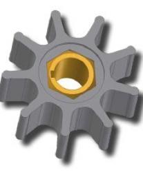 Roue - pour la pompe à roue ZUWA Type A - Perbunan® (NBR)