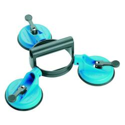 Articulated suction lifter - aluminum - 3 flexible heads - suction discs Ø 120 mm - load capacity 100 kg