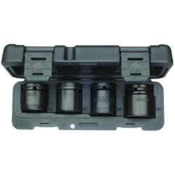 Kraftschrauber-Satz - Antrieb 3/4″ für LKW - 4-teilig - 6-kant - 24 bis 33 mm