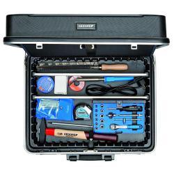 Werkzeugkoffer für Elektriker - 90-teilig - aus schlagfestem Kunststoff