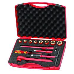 VDE tool set - 14 pieces - in case