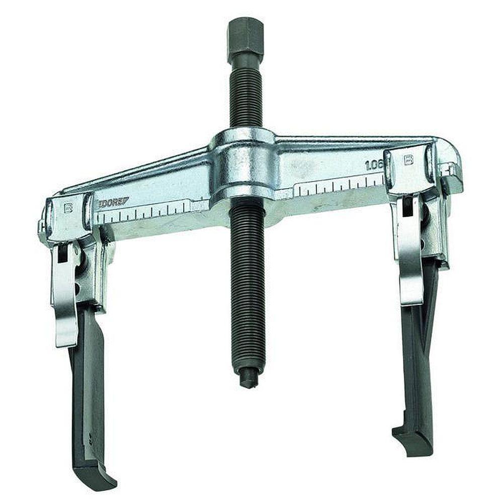 Schnellspann-Abzieher - 2-armige, schlanke Haken - Spannweite (außen) 100 bis 200 mm