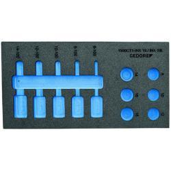 Check-Tool-Modul - leer - für Schraubendreher-Einsätze 1/2″
