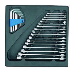 Ring-Maulschlüssel-Satz - in 2/3 ES-Modul - Schlüsselweiten 6 bis 22 mm