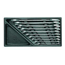Doppelmaulschlüssel-Satz - 10-teilig -  Schlüsselweiten 6 bis 27 mm