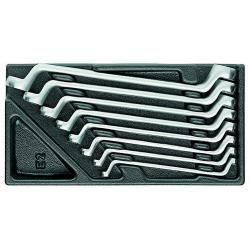 Ringnyckelsats - 8 stycken - i 1/3 ES-modul - Bredd över lägenheter 6 till 20 mm