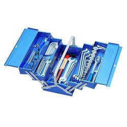 Werkzeugkasten mit 68-teiligem Werkzeugsortiment - fünf Fächer