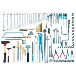 Truck tool assortment - 115 pieces - metric tools