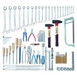 Tool set for agricultural machinery - 79 pieces - metric tools